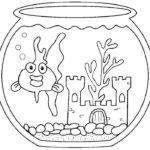 Аквариум с рыбками картинки раскраски (7)
