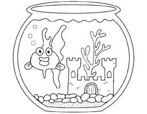 -с-рыбками-картинки-раскраски-7-300x233 Аквариум с рыбками