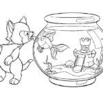Аквариум с рыбками картинки раскраски (9)