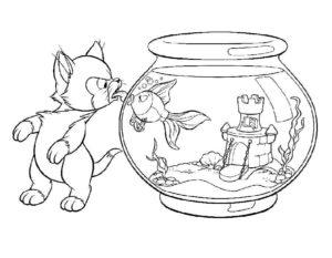 -с-рыбками-картинки-раскраски-9-300x233 Аквариум с рыбками