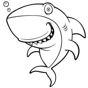 Акула картинки раскраски (12)