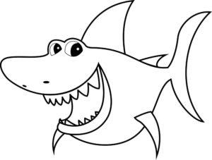 Акула картинки раскраски (3)