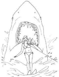 Акула картинки раскраски (38)
