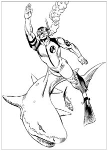 Акула картинки раскраски (51)