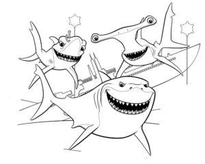 Акула картинки раскраски (7)