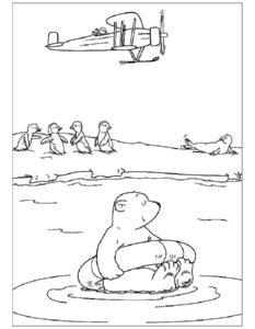 Белый медведь картинки раскраскиБелый медведь картинки раскраски (4)