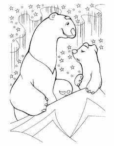 Белый медведь картинки раскраскиБелый медведь картинки раскраски (5)