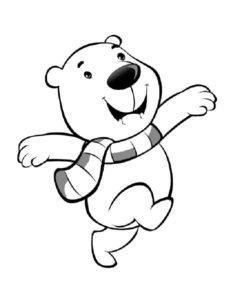 Белый медведь картинки раскраскиБелый медведь картинки раскраски (6)
