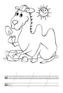 Верблюд картинки раскраски (11)