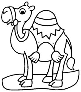 Верблюд картинки раскраски (27)