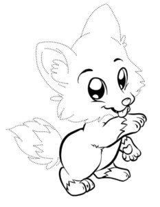 Волк картинки раскраски (4)