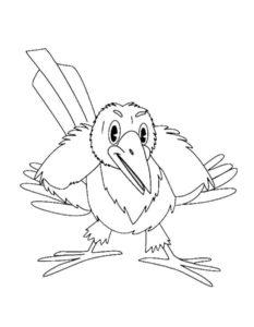 Ворона картинки раскраски (1)