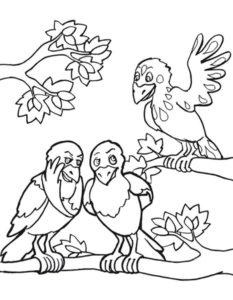 Ворона картинки раскраски (10)