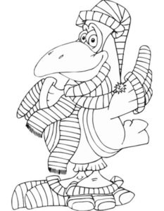 Ворона картинки раскраски (11)