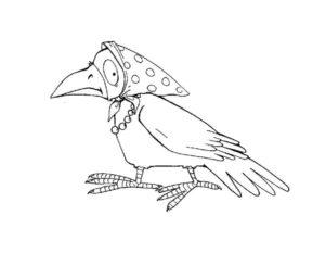 Ворона картинки раскраски (12)