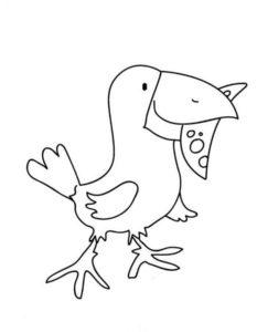 Ворона картинки раскраски (2)