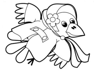 Ворона картинки раскраски (3)