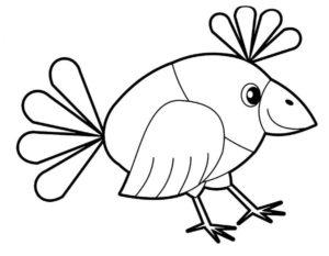 Ворона картинки раскраски (4)