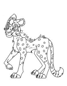 Гепард картинки раскраски (9)