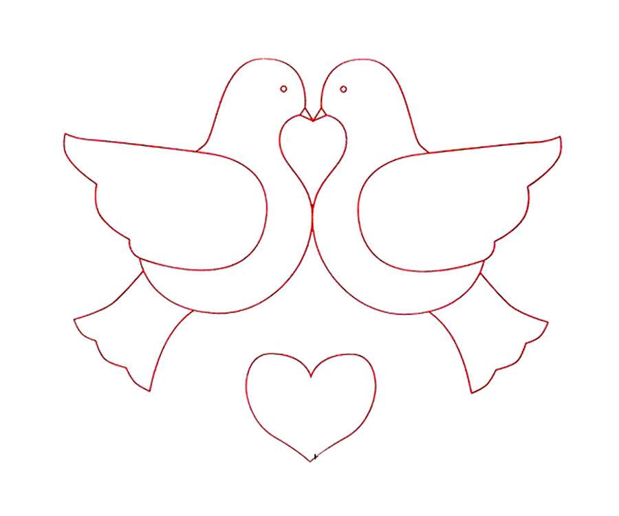Рисунки для раскрашивания голуби
