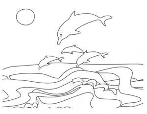 Дельфин картинки раскраски (13)