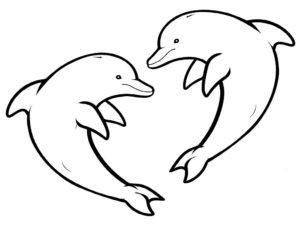 Дельфин картинки раскраски (15)