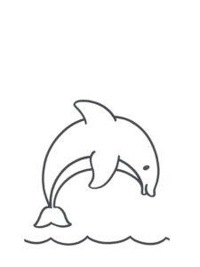 Дельфин картинки раскраски (35)