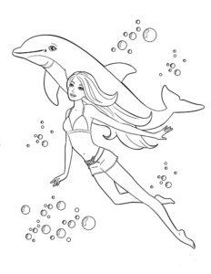 Дельфин картинки раскраски (43)