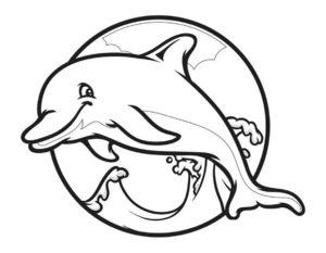 Дельфин картинки раскраски (8)