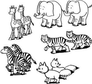 Дикие животные картинки раскраски (41)