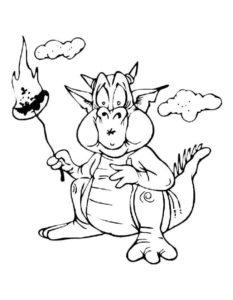 Дракон картинки раскраски (1)
