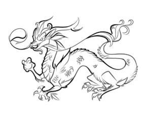Дракон картинки раскраски (10)