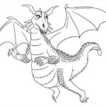 Дракон картинки раскраски (11)