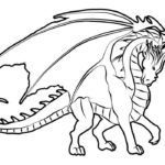 Дракон картинки раскраски (12)