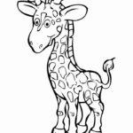 Жираф картинки раскраски (7)