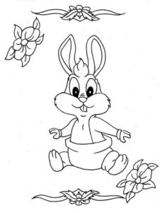 Заяц картинки раскраски (3)