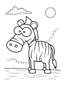 Зебра картинки раскраски (11)