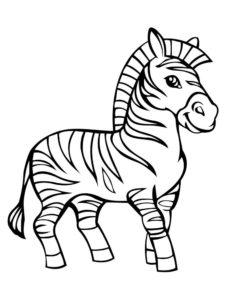 Зебра картинки раскраски (5)
