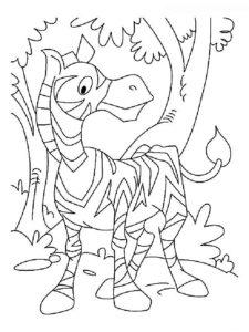 Зебра картинки раскраски (8)