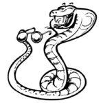Змеи картинки раскраски (1)