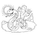 Змеи картинки раскраски (10)