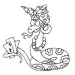 Змеи картинки раскраски (12)