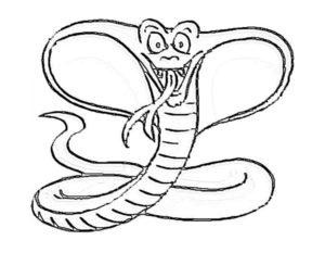Змеи картинки раскраски (17)