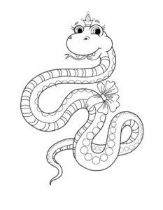 Змеи картинки раскраски (4)