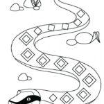 Змеи картинки раскраски (6)