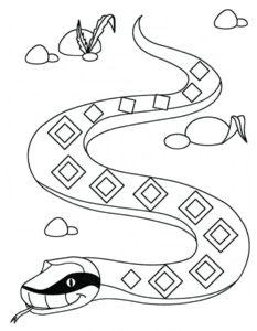 -картинки-раскраски-6-233x300 Змеи