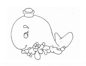 Кит картинки раскраски (3)