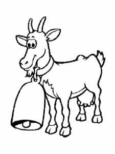 Коза картинки раскраски (27)