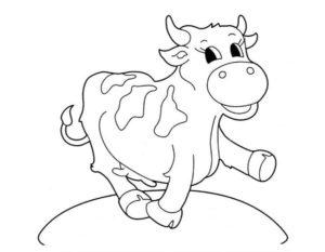 Корова картинки раскраски (1)