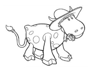 Корова картинки раскраски (3)